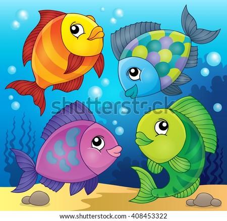 Fish topic image 3 - eps10 vector illustration. - stock vector