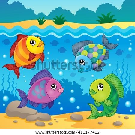 Fish topic image 4 - eps10 vector illustration. - stock vector
