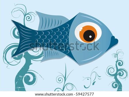 fish (vector) - stock vector