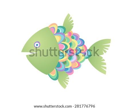 Fish. Vector illustration. - stock vector