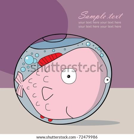 Fishbowl - stock vector