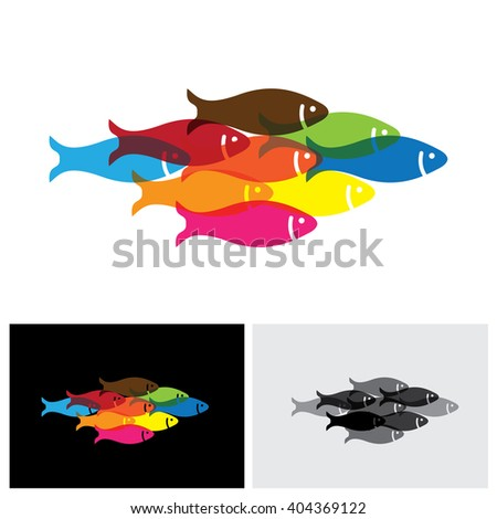 fishes vector logo icon in eps 10 format - stock vector