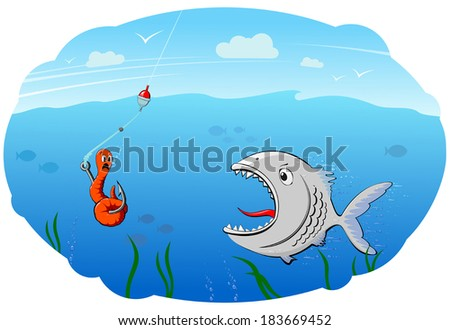 fishing - stock vector