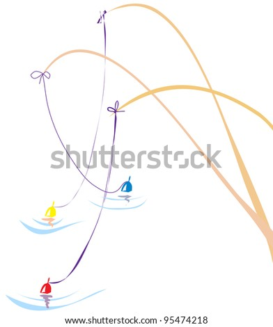 fishing - stock vector