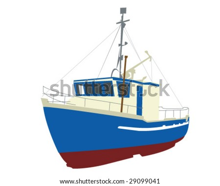 Fishing Boat Vector Illustration - stock vector
