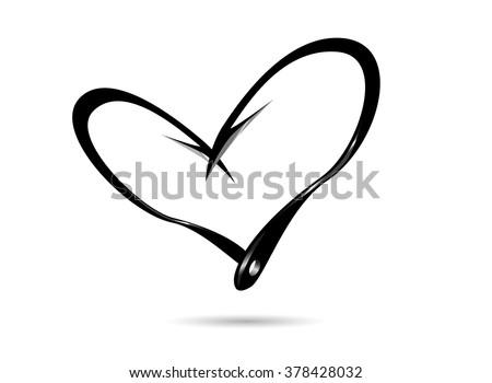 fishing hook symbol icon love fishing concept - stock vector