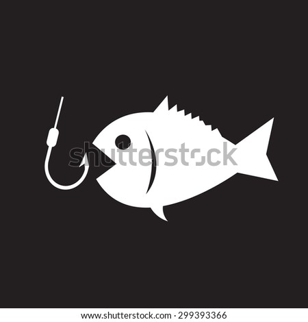 Fishing icon - stock vector