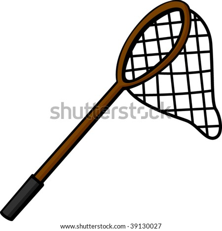 fishing or hunting net - stock vector