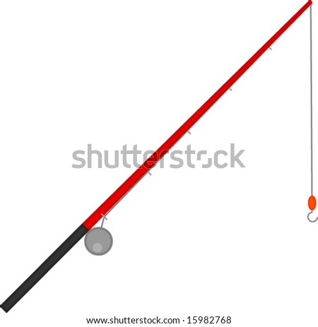 Fishing Pole Clipart Fishing rod - stock vector