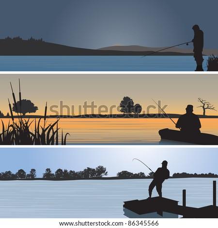 Fishing. Vector illustration - stock vector