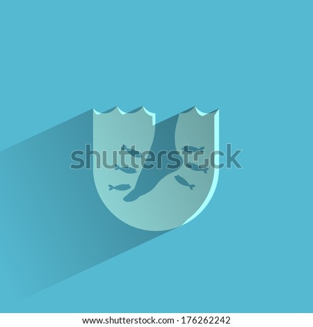 Fishmassage. Vector format - stock vector
