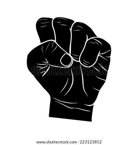 FIST HUMAN HAND illustration vector - stock vector
