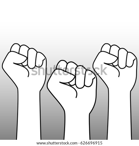 Fist Icon Vector Symbol Symbol Strength Stock Vector Royalty Free