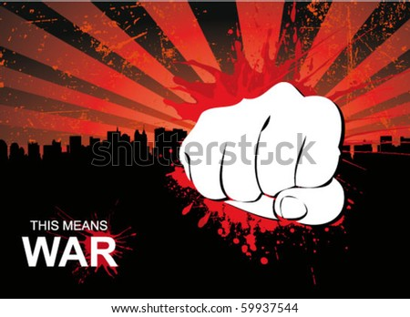 fist poster - stock vector