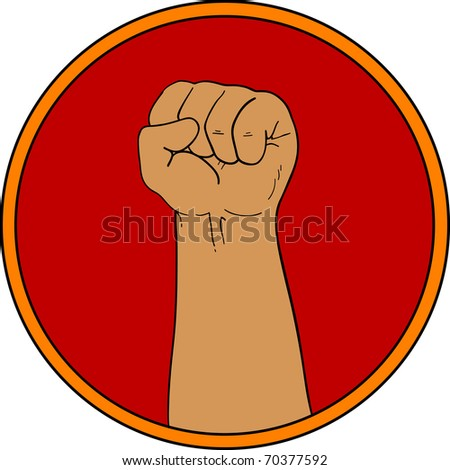 Fist Sign - stock vector