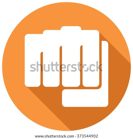 fist symbol flat icon (human hand punching sign) - stock vector
