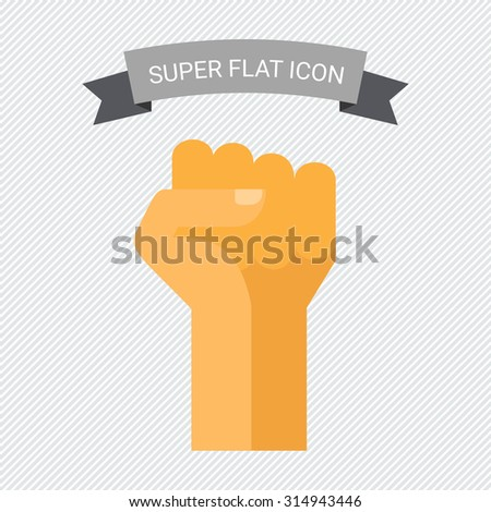 Fist up icon - stock vector