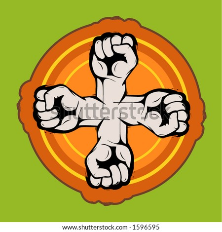 fists - stock vector