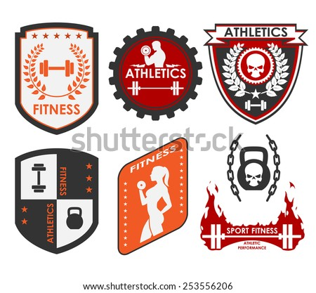 Fitness and athletics logo - stock vector