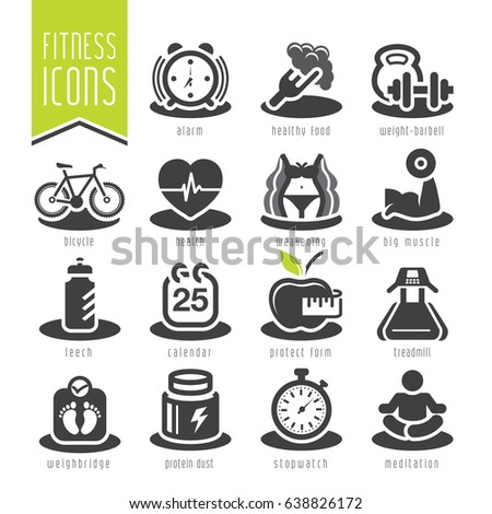Wellness icon  Fitness Wellness Icon Set Stock-Vektorgrafik 638826172 – Shutterstock
