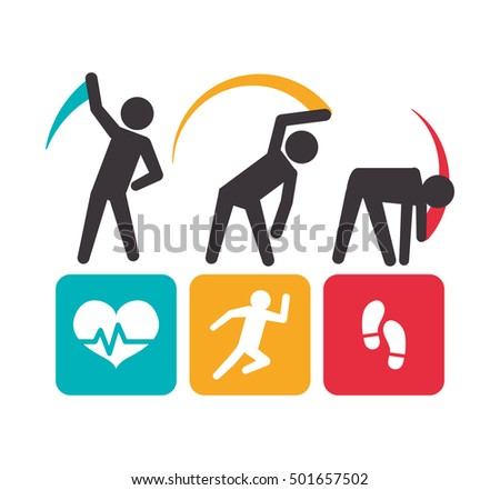 fitness app technology icons vector illustration design