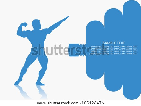 Fitness background - vector illustration - stock vector