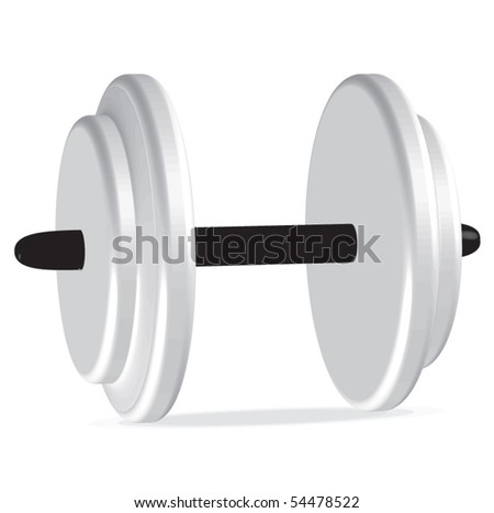 Fitness dumbbell illustration - stock vector