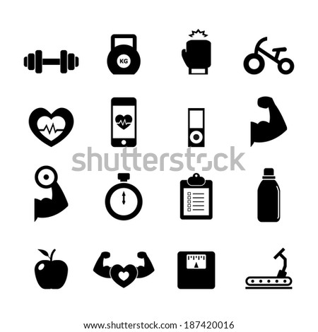 Fitness Icon - stock vector