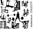 fitness men vector - stock vector