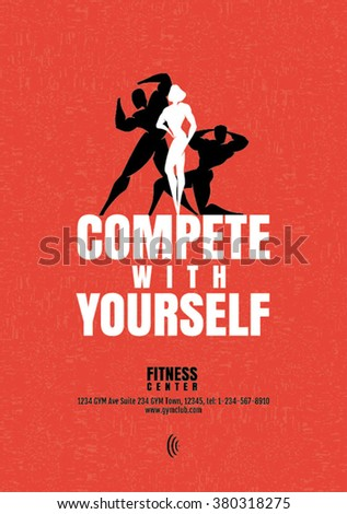 Fitness Poster Center Bodybuilding Health