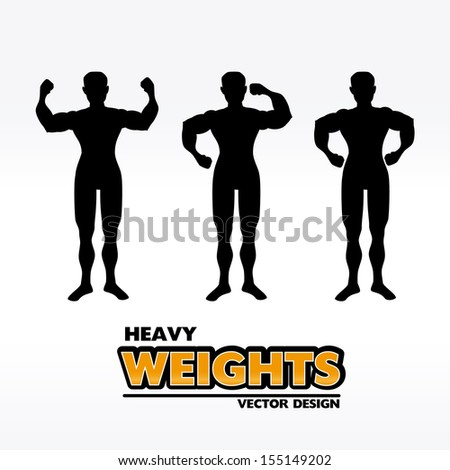 fitness seal over blue background vector illustration