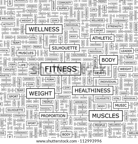 FITNESS. Seamless pattern. - stock vector