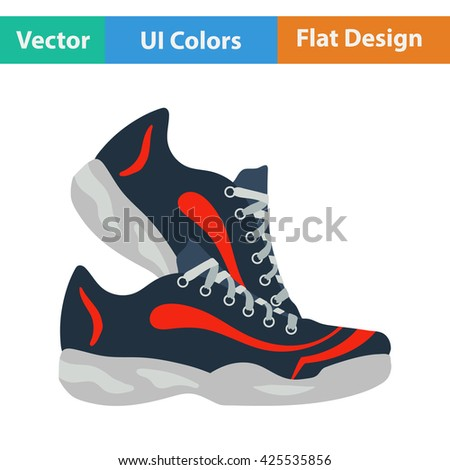 Fitness sneakers icon. Vector illustration.