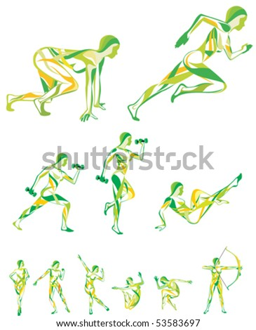 fitness,sport - stock vector