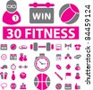 fitness & sport icons, signs, vector illustrations set - stock vector
