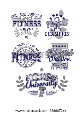 Fitness Varsity Set  - stock vector
