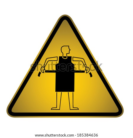 Fitting  Warning Sign- Vector
