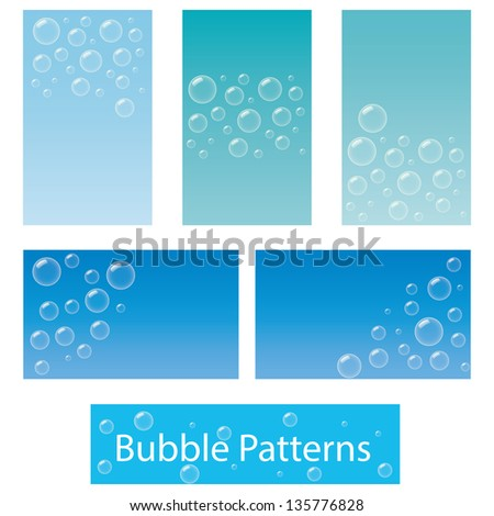 Five business card background designs based stock vector 135776828 five business card or background designs based on bubbles colourmoves