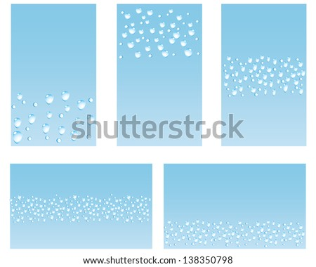 Five business card background designs based stock photo photo five business card or background designs based on water drops colourmoves
