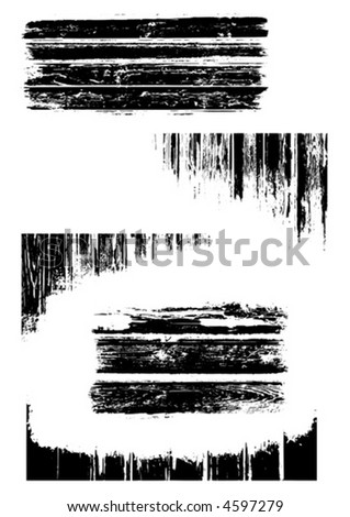Five detailed vector grunge design elements. - stock vector