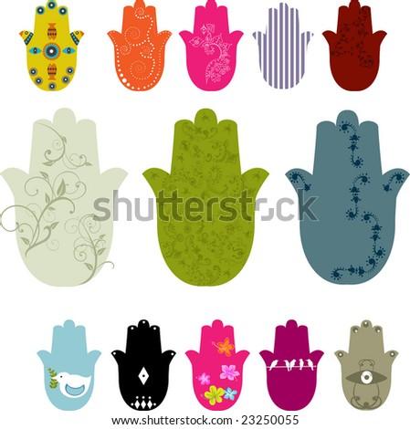 five fingers figure - stock vector