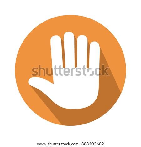 five fingers gesture - stock vector