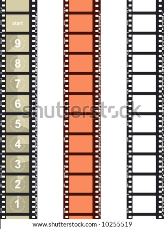 Five frames of the negative film - stock vector