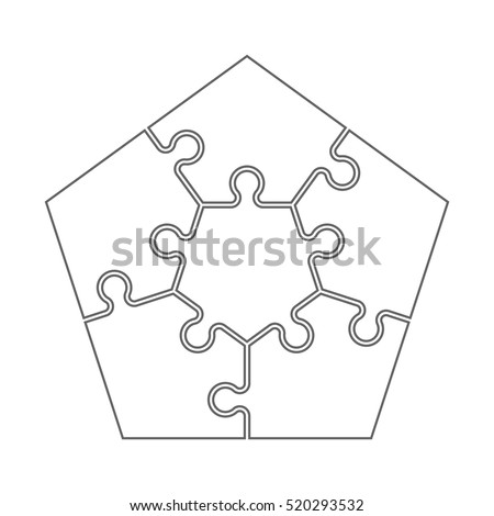 Five Piece Puzzle Template