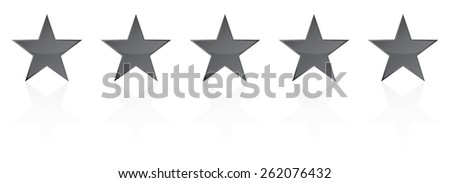 Five Star Product Quality Rating Vector - stock vector