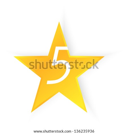 Five Star Quality Illustration - stock vector