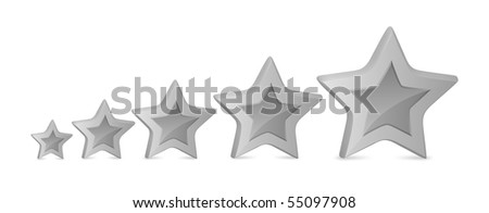 Five stars for ranking at forums and picture galleries - stock vector