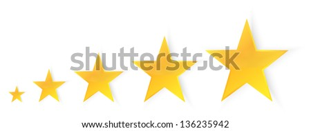 Five Stars Quality Illustration - stock vector
