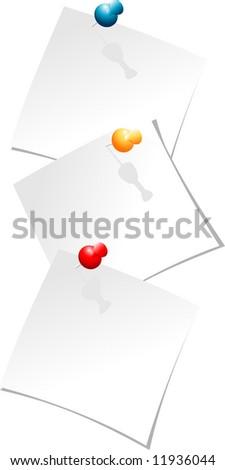 Fix office paper - stock vector