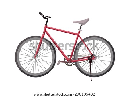 fixed-gear bicycle red